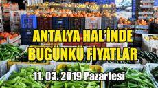 Antalya Hal'inde 11 Mart 2019 Pazartesi Günkü Fiyatlar