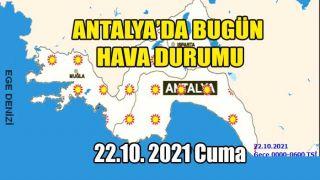 Antalya'da Hava Az Bulutlu, Açık, Sıcaklıkta Herhangi Bir Değişiklik Yok