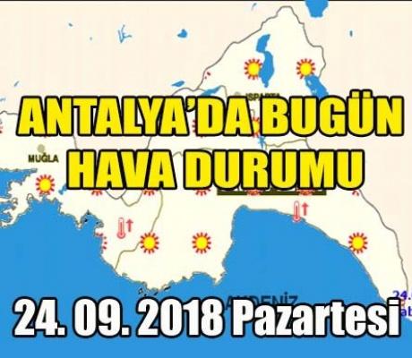 Antalya'da Hava Az Bulutlu ve Açık, Sıcaklık Sahilde Azalacak, İç Kesimlerde Artacak