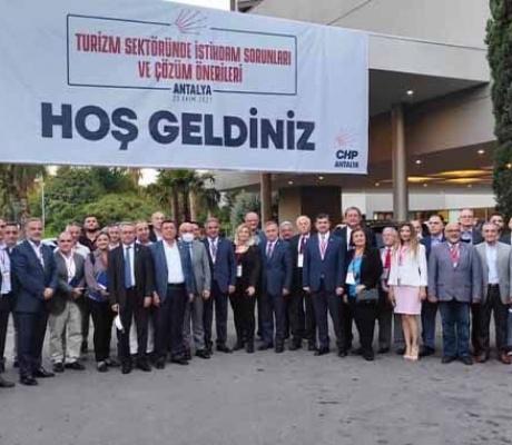Antalya CHP'den Turizm Çalıştayı