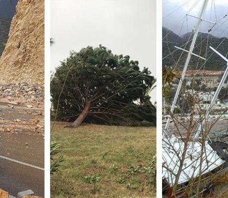Antalya'da Fırtına Şehri Ve Çiftçiyi Vurdu, Tekneler Battı, Çatılar Uçtu, Ağaçlar Devrildi
